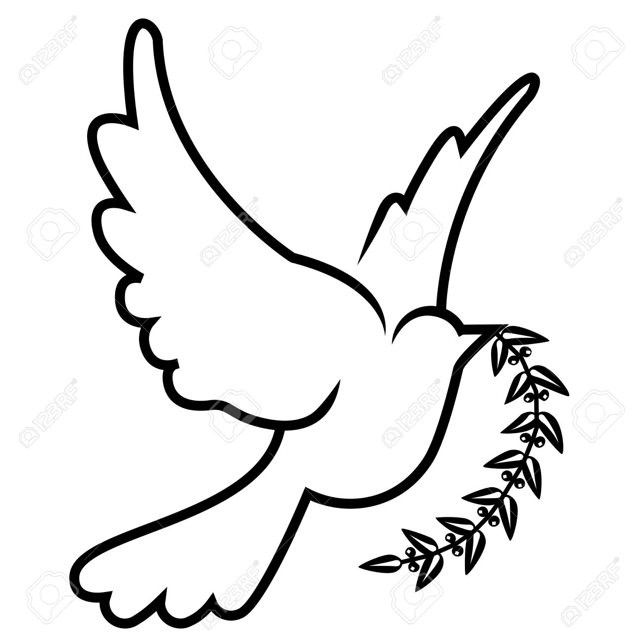 Vector Symbol Of Dove Olive Branch Royalty Free Cliparts Vectors And Stock Illustration Image 13320909