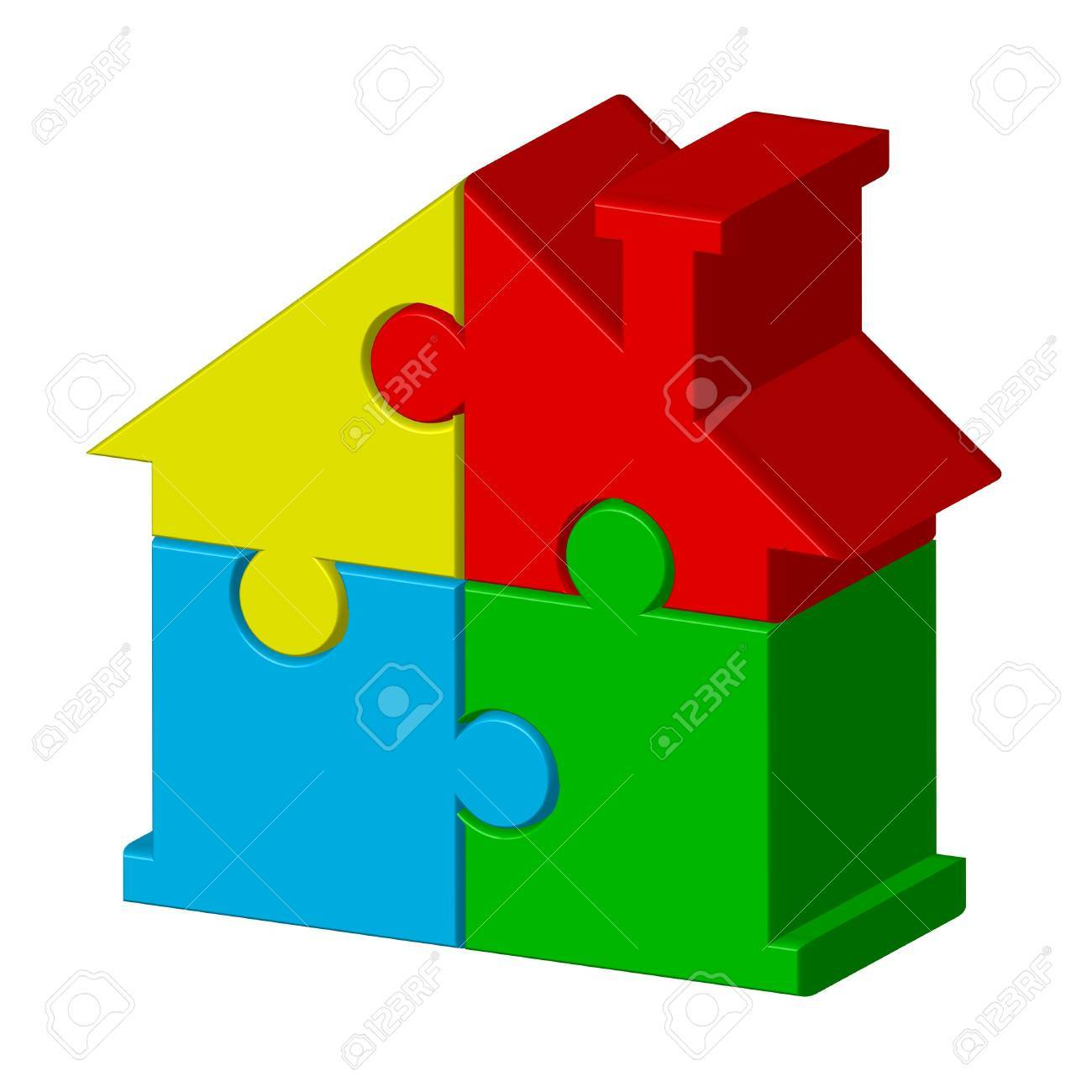 House from puzzles Stock Vector - 13320917