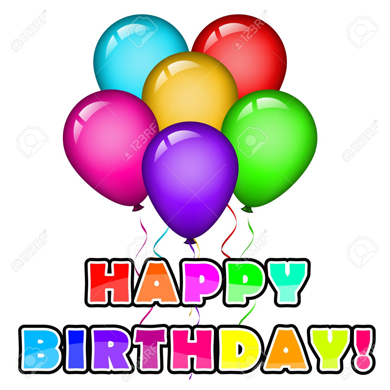 Happy birthday background with nallons Stock Vector - 13443345