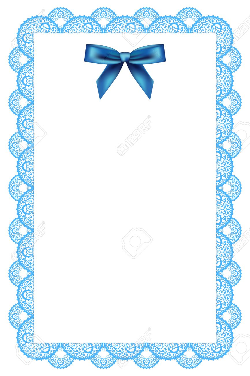 white background with lace and ribbon Stock Vector - 13531626