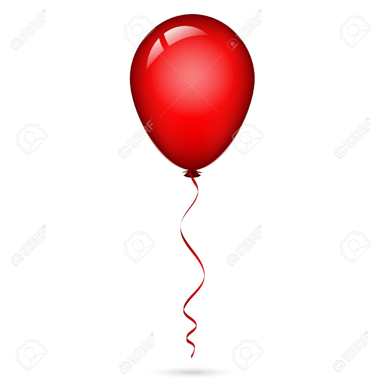 illustration of red balloon with ribbon royalty free cliparts