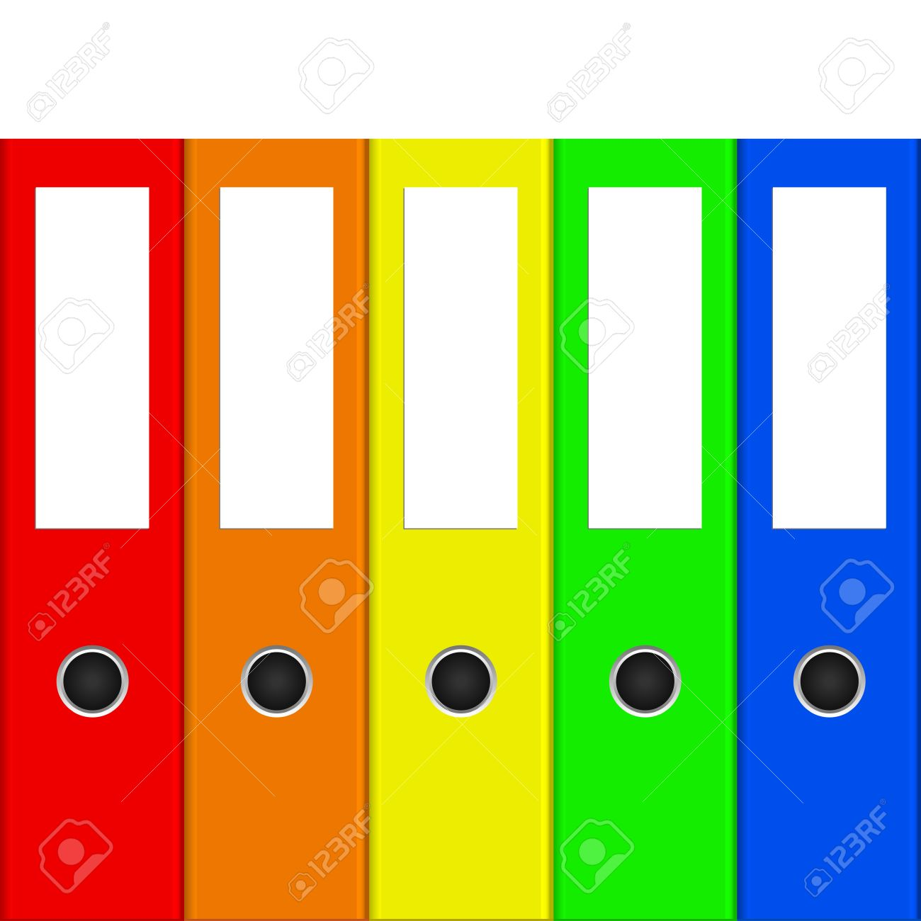 Vector illustration of colorful binders Stock Vector - 14181413