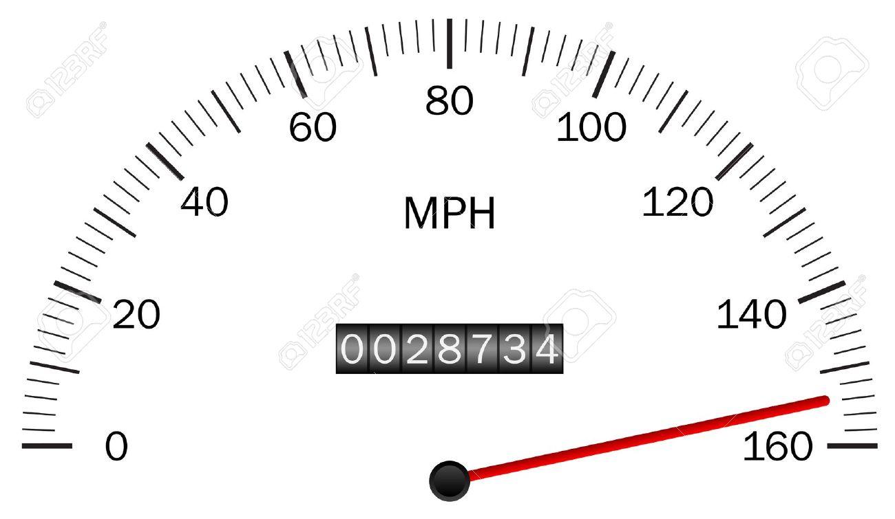 Vector illustration of a speedometer Stock Vector - 14194592
