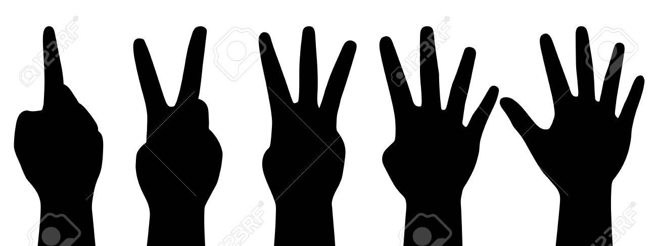 illustration of counting hands Stock Vector - 14646039