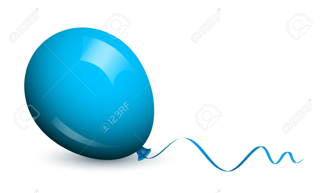 Vector Illustration Of Blue Balloon Royalty Free Cliparts, Vectors ...
