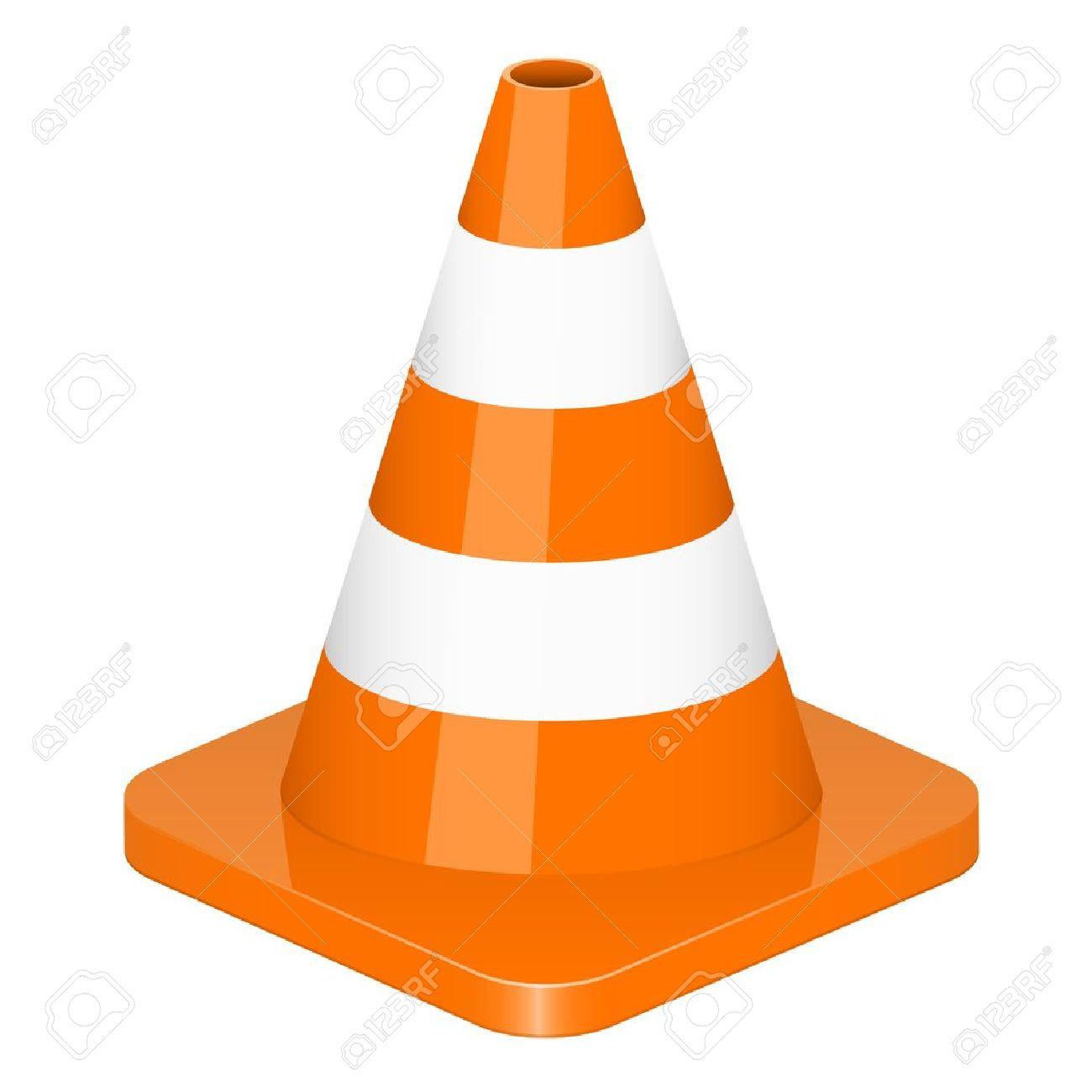 vector illustration of traffic cone royalty free cliparts vectors rh 123rf com cône clipart cone clipart outline