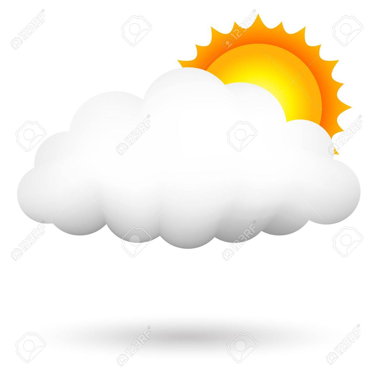 illustration of cloud ans sun Stock Vector - 15766478