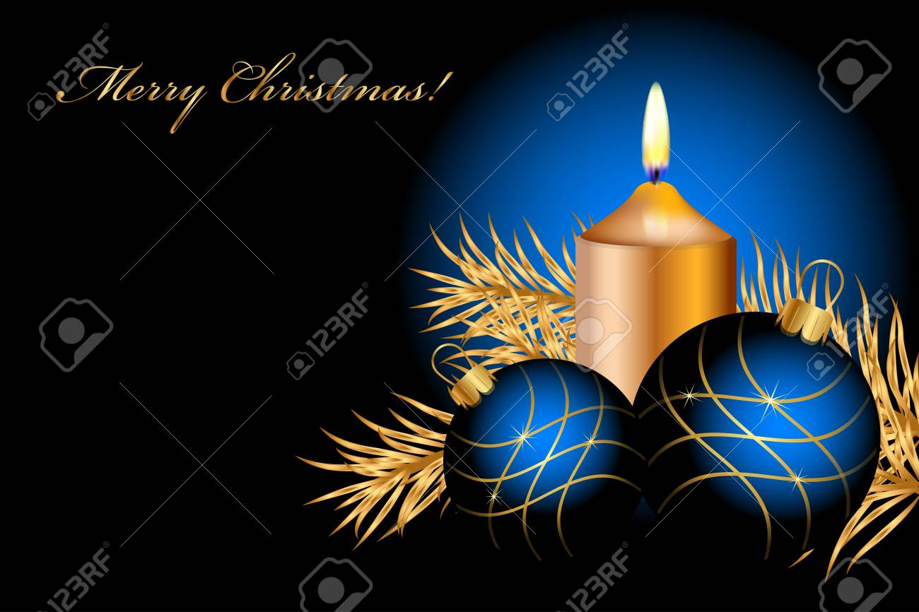 blue christmas background Stock Vector - 15766961
