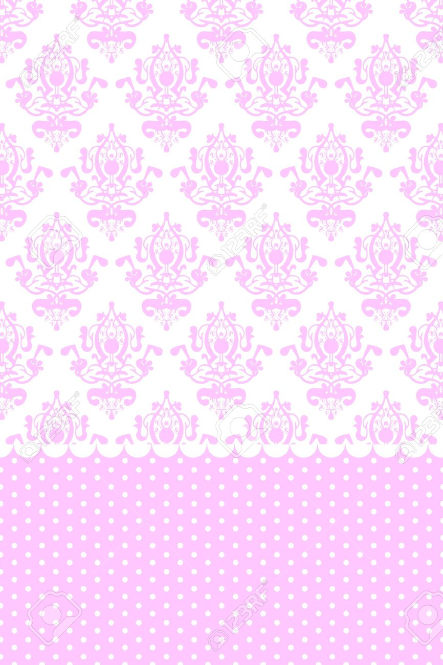 Pink And White Wallpaper Stock Vector