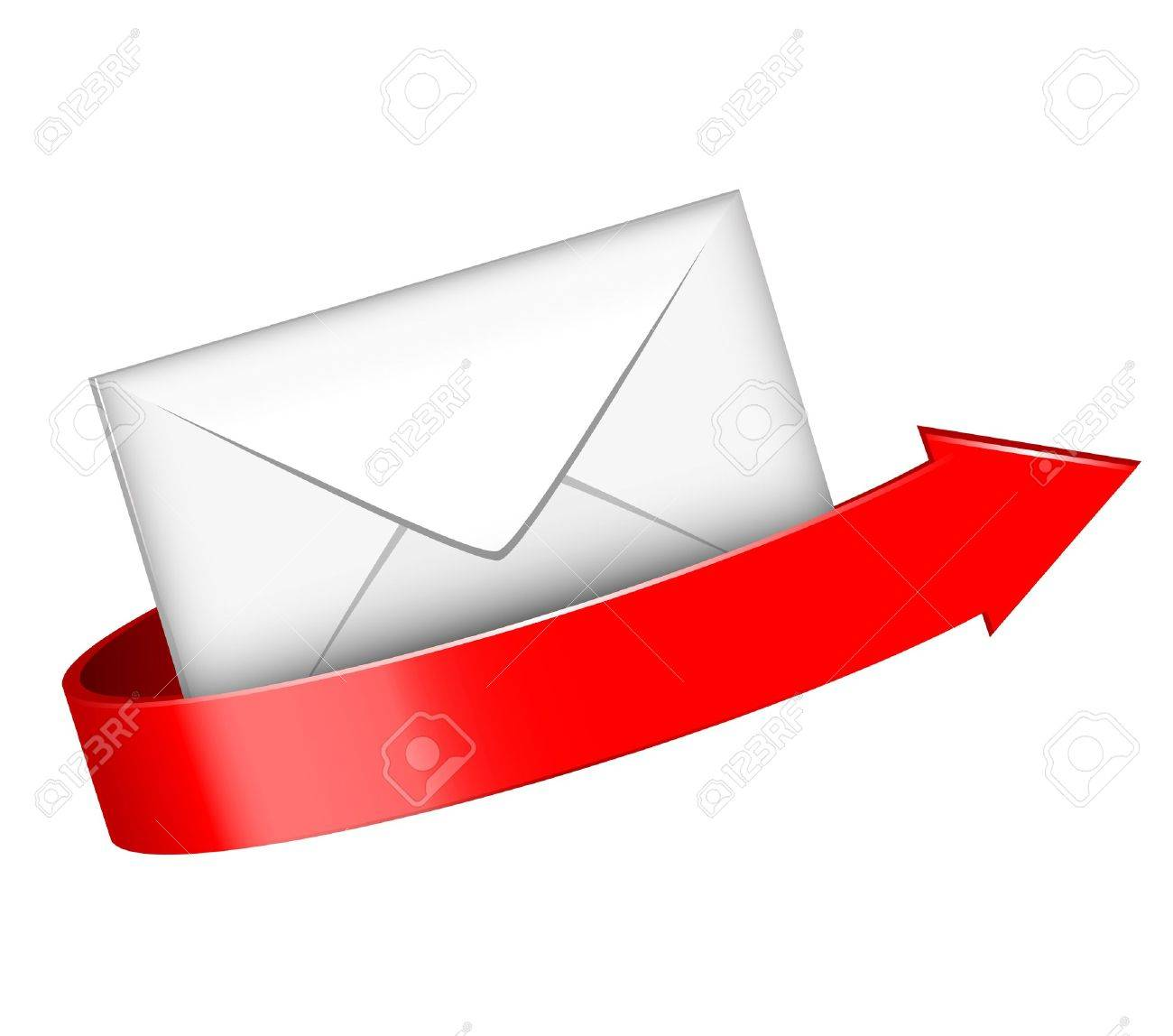 illustration of envelope and red arrow Stock Vector - 16196178