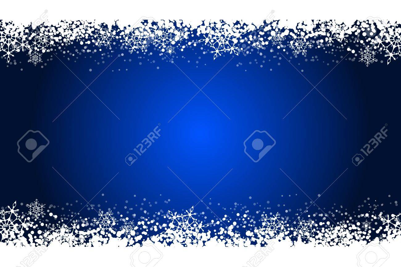Vector blue frame with snowflakes Stock Vector - 16330915