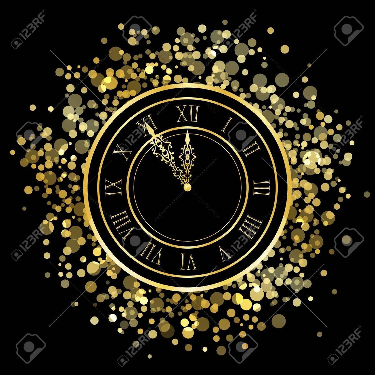 Vector shiny New Year Clock Stock Vector - 16850764