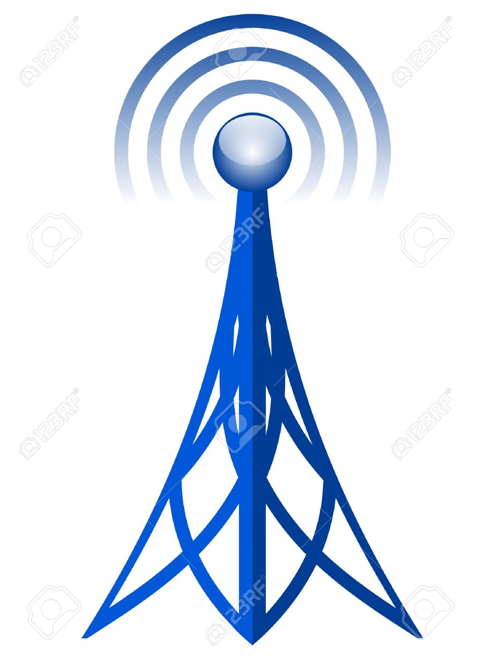 Broadcast Tower Vector Vector - Vector antenna icon