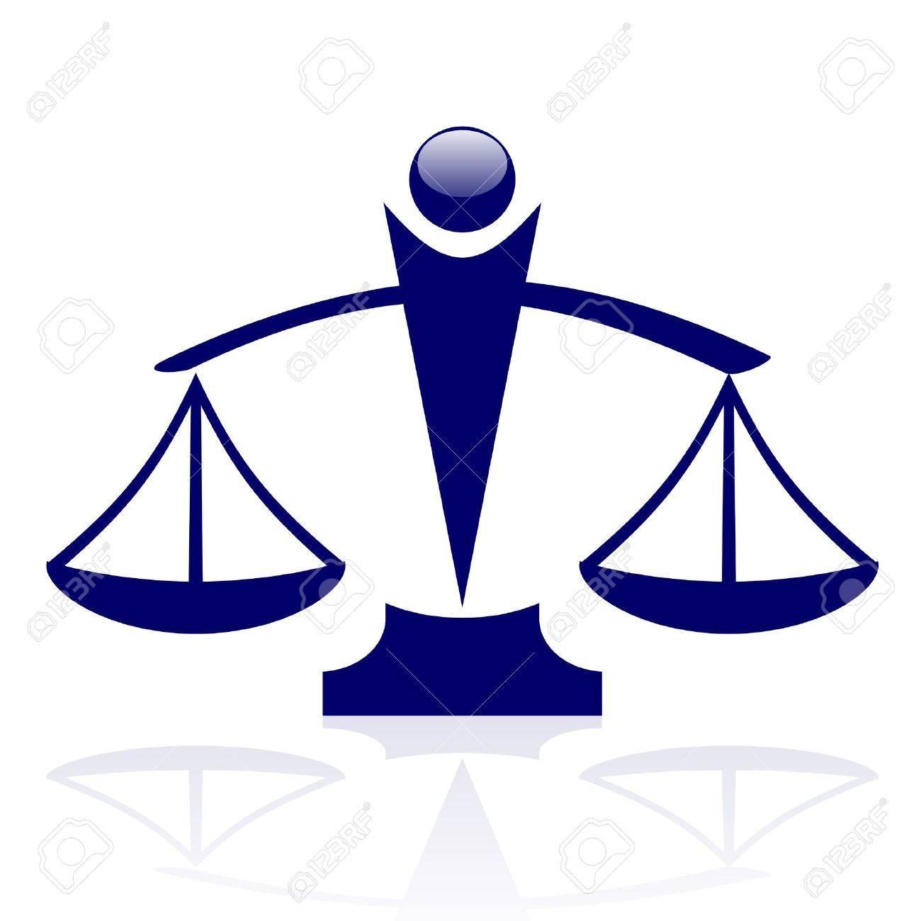 icon - Justice scales Stock Vector - 17688622