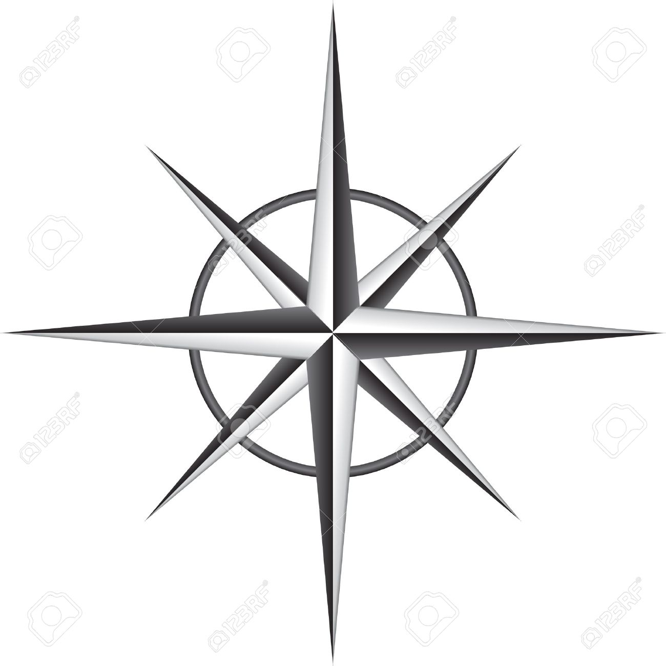 Illustration Of Compass Rose Royalty Free Cliparts Vectors And