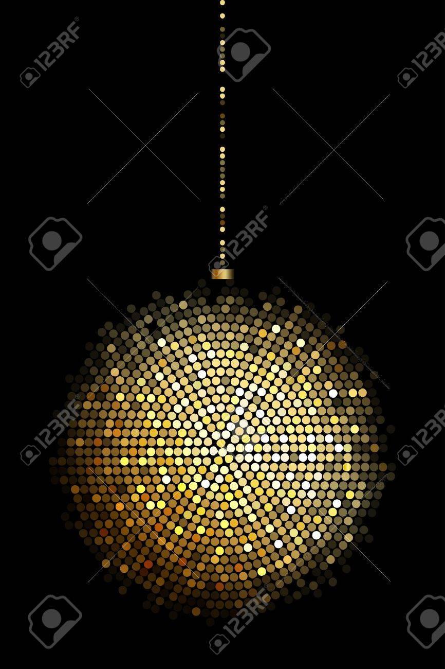 illustration of gold disco ball lights Stock Vector - 17968223