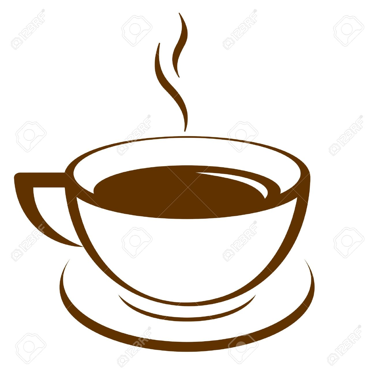Coffee cup vector free - Vector Icon Of Coffee Cup Stock Vector 19059529