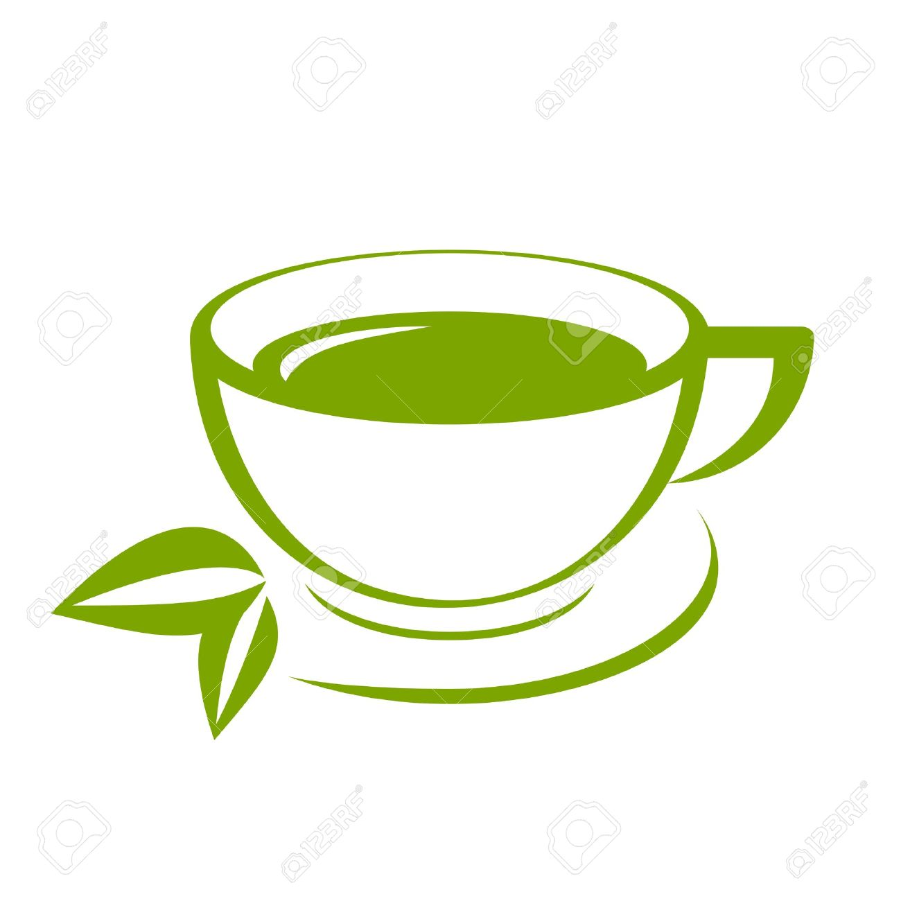 vector icon of green tea cup royalty free cliparts vectors and rh 123rf com tea cup vector old tea cup vector image