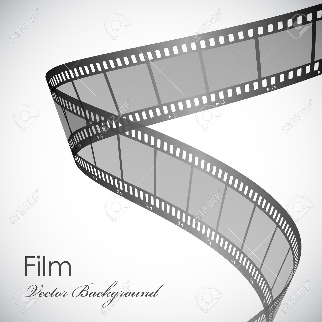 Vector Background With Film Strip Royalty Free Cliparts Vectors