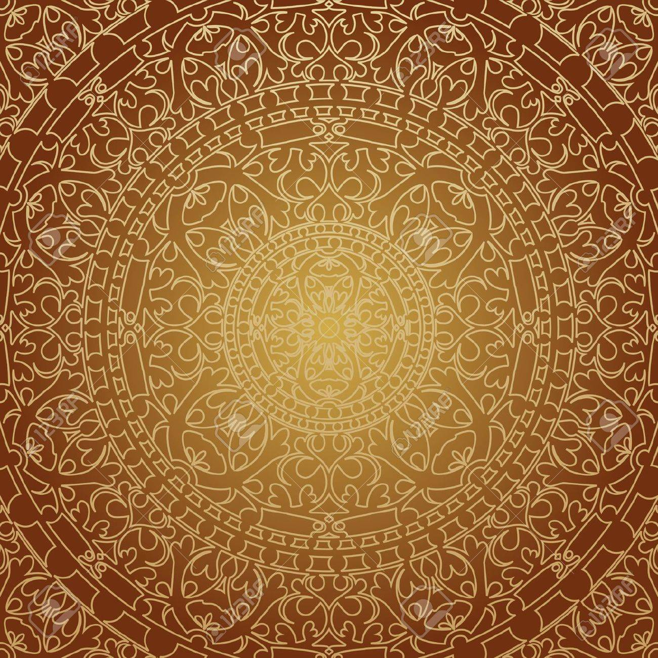 illustration of oriental brown decoration Stock Vector - 19749768