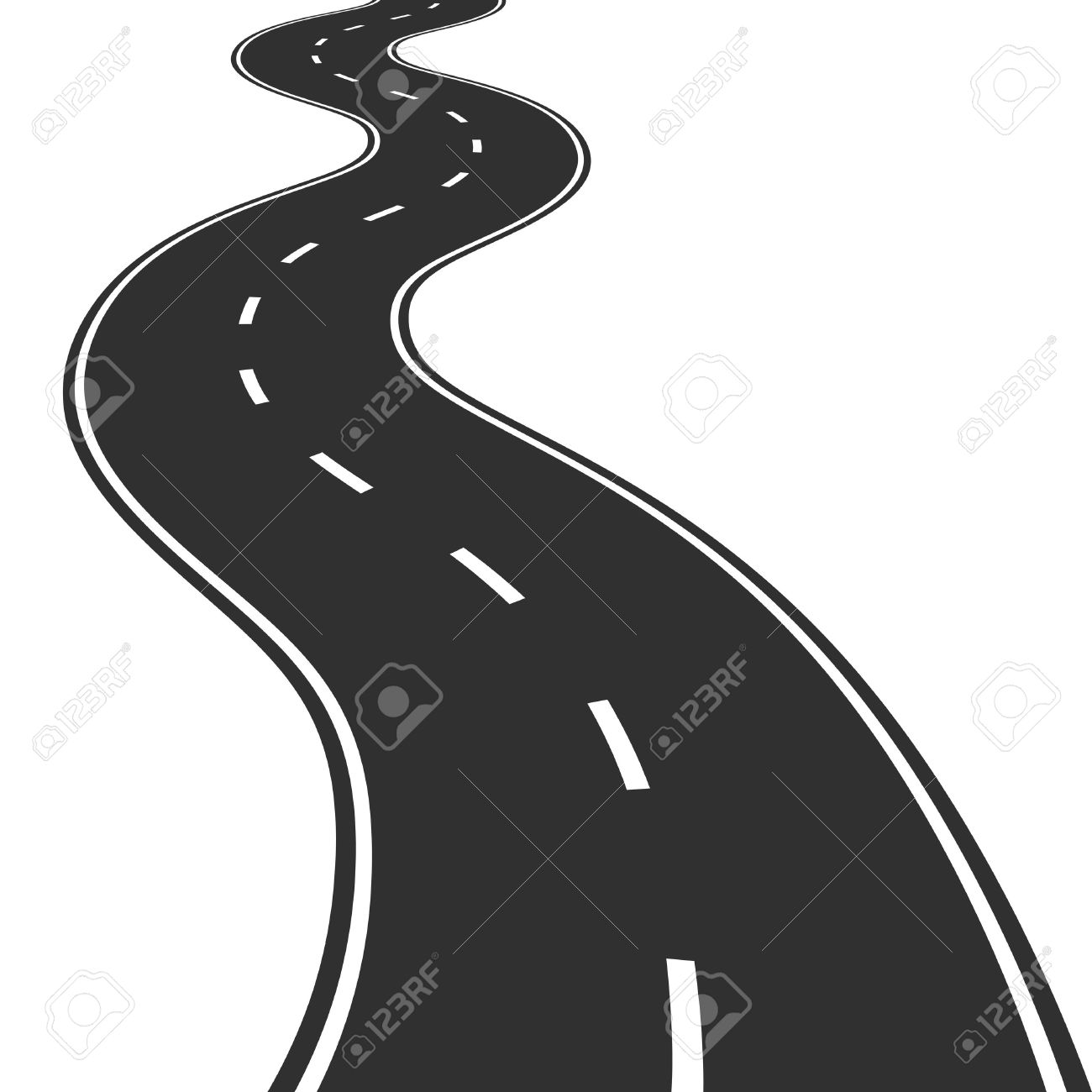 Illustration of winding road - 20008432