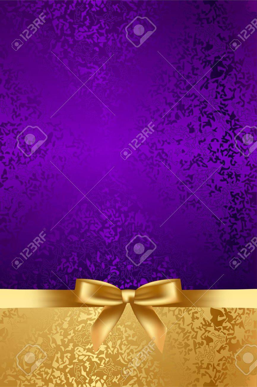 Vector luxury background with gold bow Stock Vector - 20337818