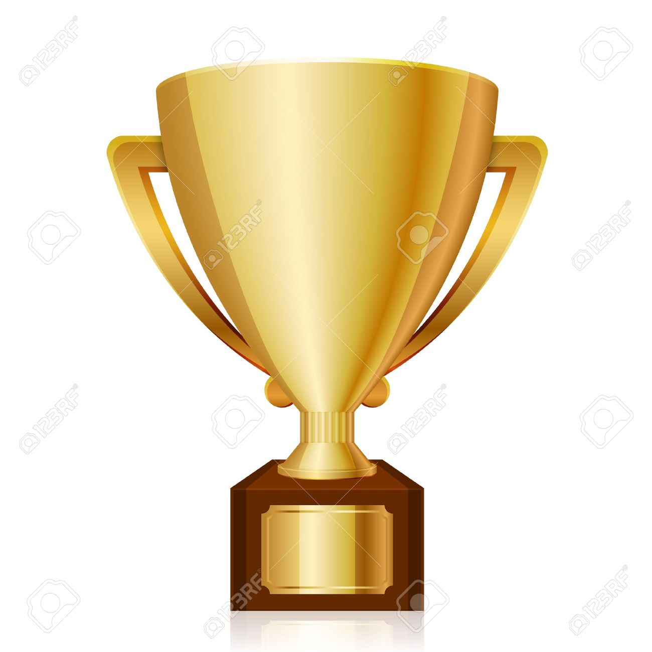 illustration of gold shiny trophy - 20940754