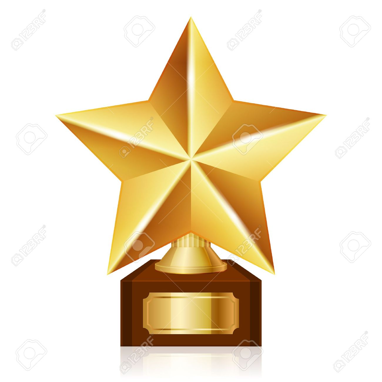 Gold Star Award Royalty Free Cliparts Vectors And Stock