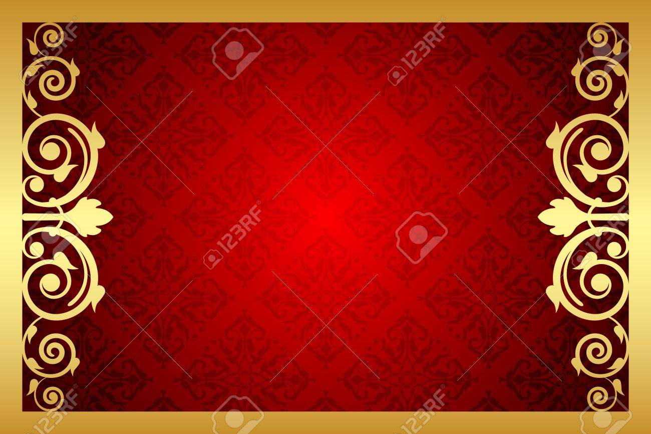 Vector gold and red royal frame Stock Vector - 21594315