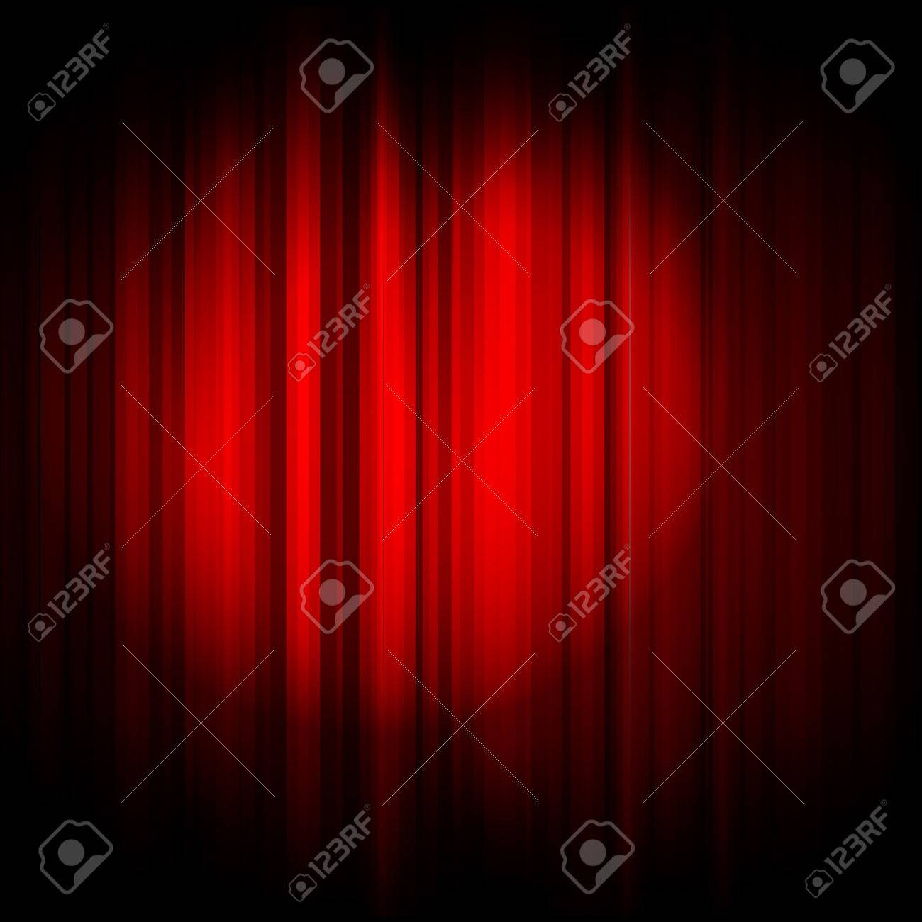 Vector red curtain with projector light Stock Vector - 22497135