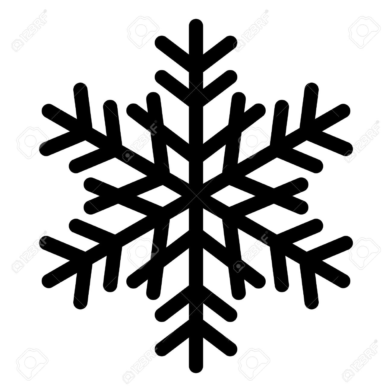 vector snowflake silhouette royalty free cliparts vectors and rh 123rf com vector snowflakes download vector snowflakes free