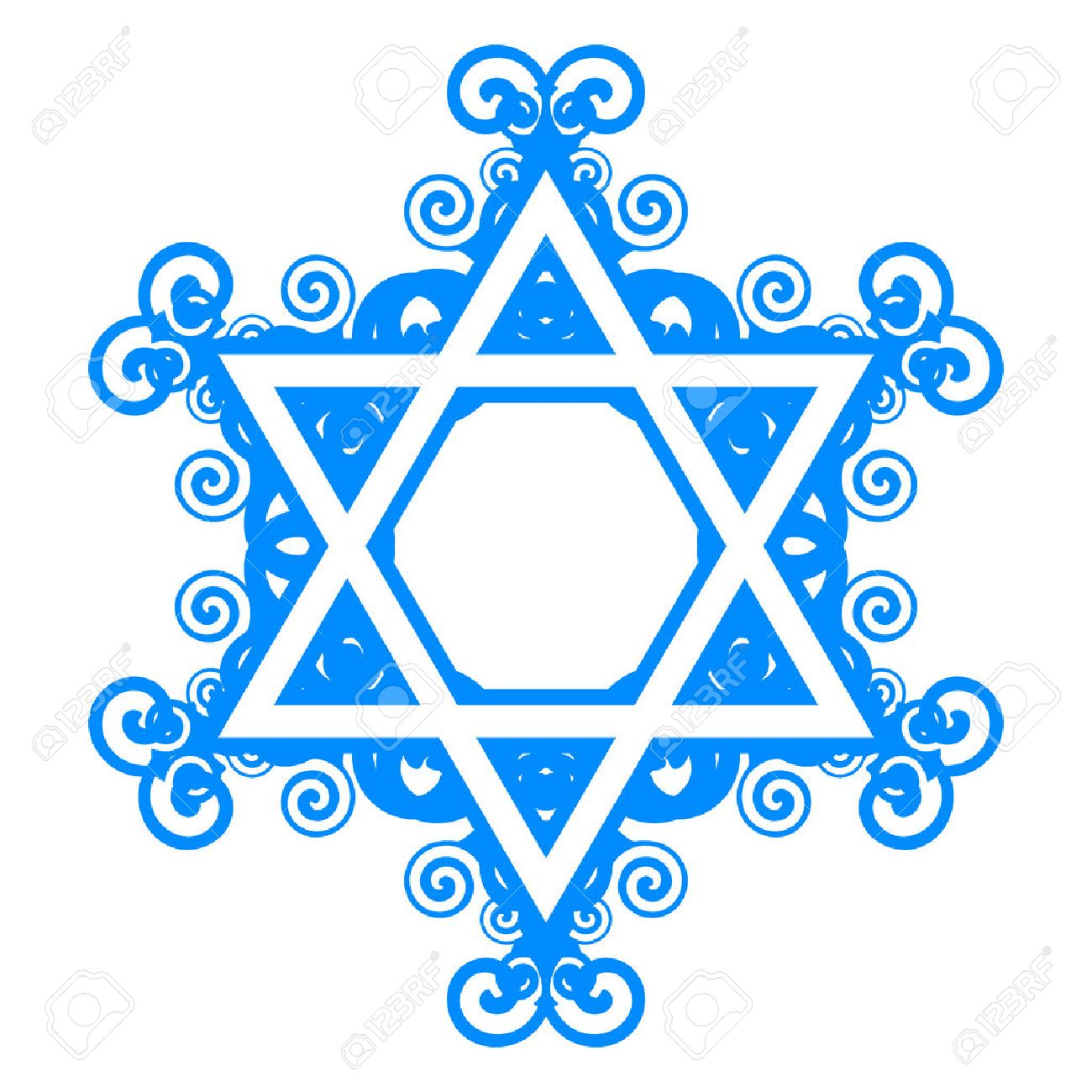 Star of david stock photos royalty free business images vector star of david with floral decorations biocorpaavc Gallery