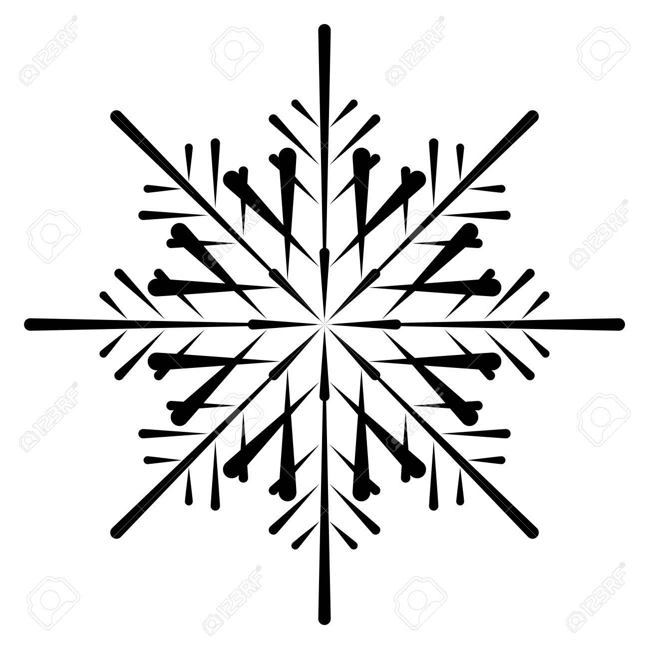 vector snowflake silhouette royalty free cliparts vectors and