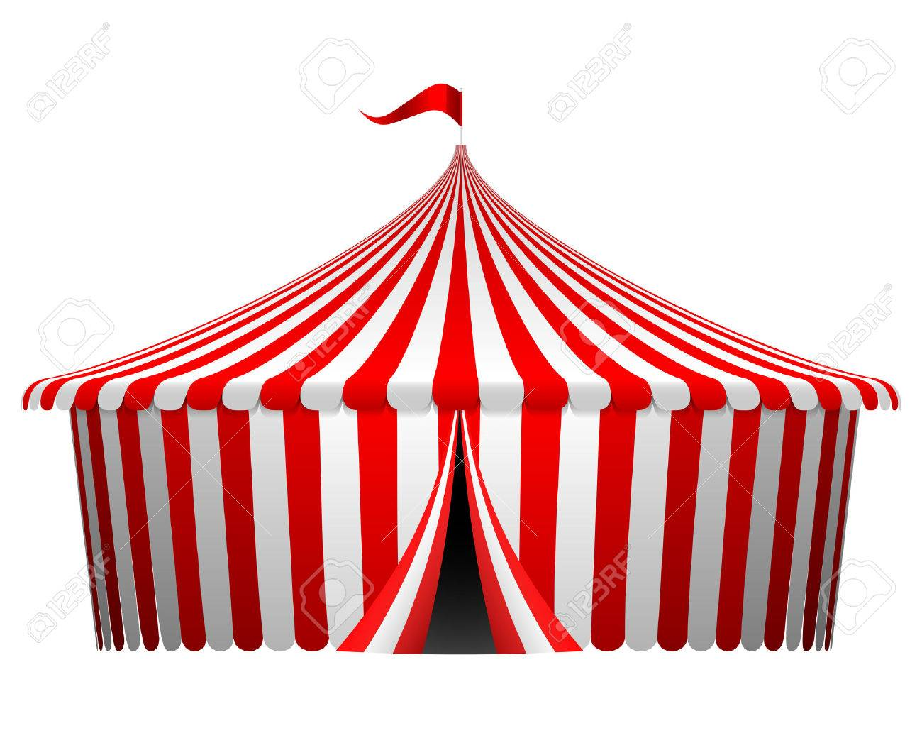Vector illustration of circus tent - 47904124