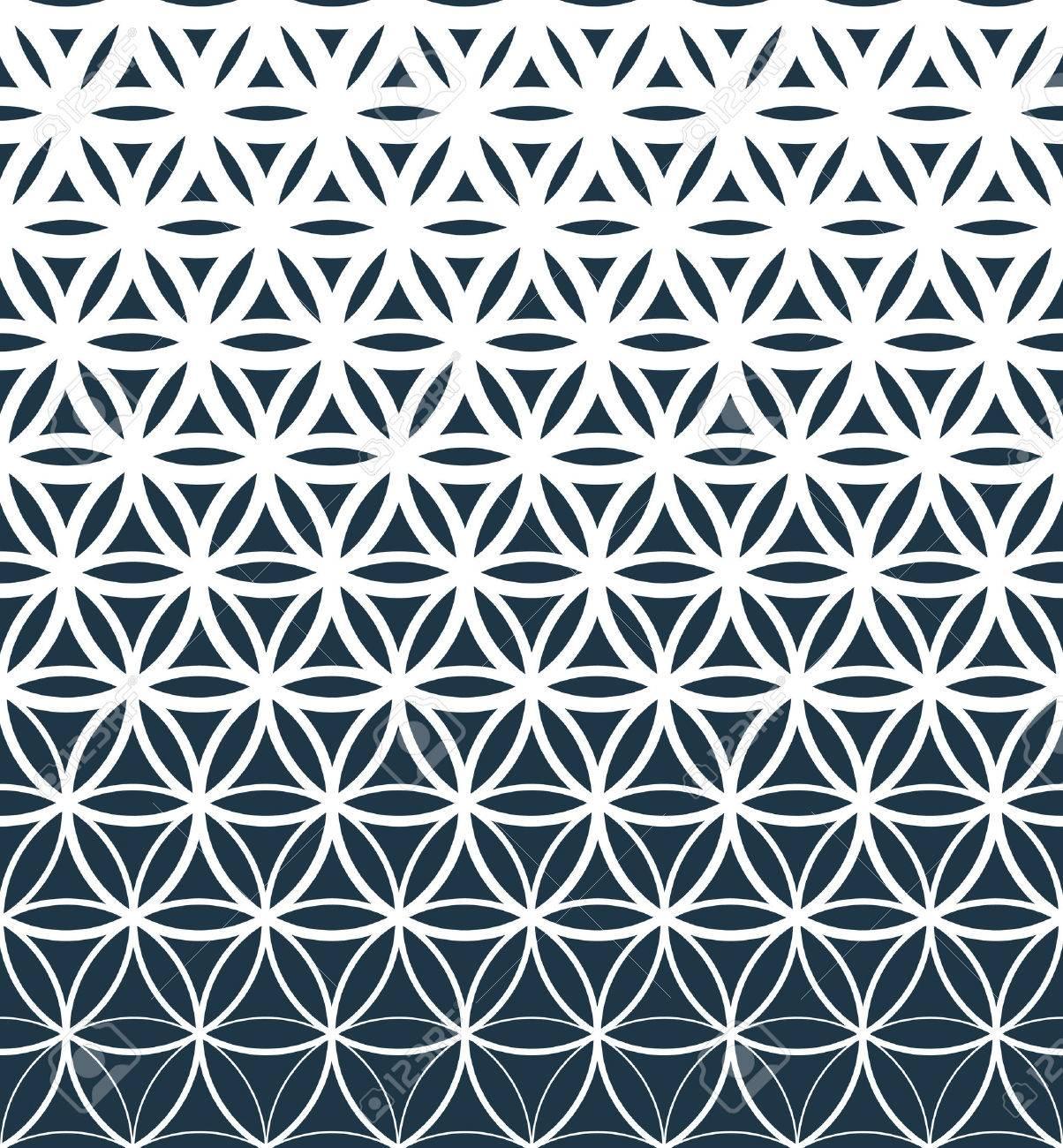 Gradient geometric seamless pattern. - 52776325