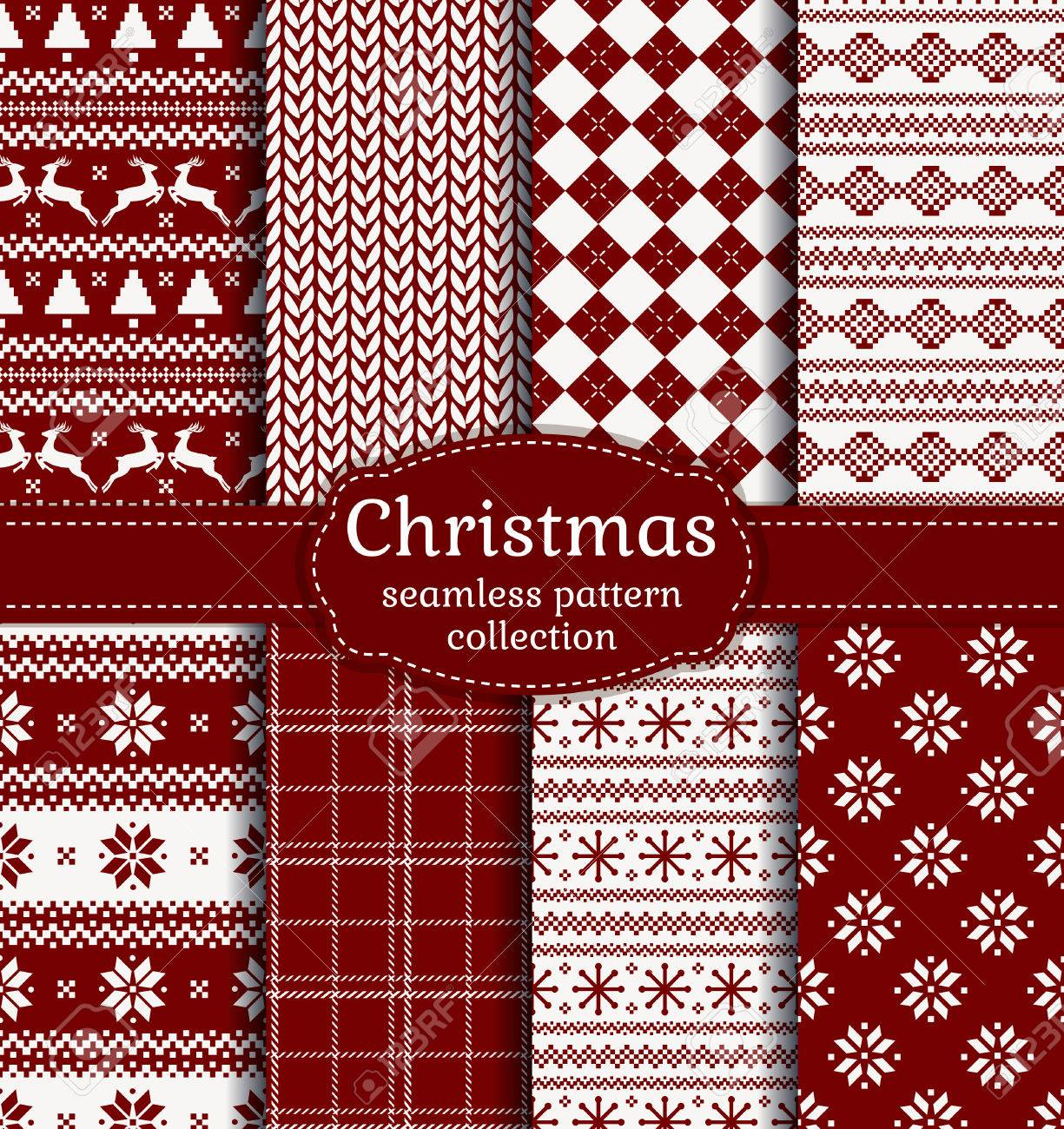 Pics photos merry christmas argyle twitter backgrounds - Merry Christmas And Happy New Year Set Of Red And White Seamless Backgrounds For Winter