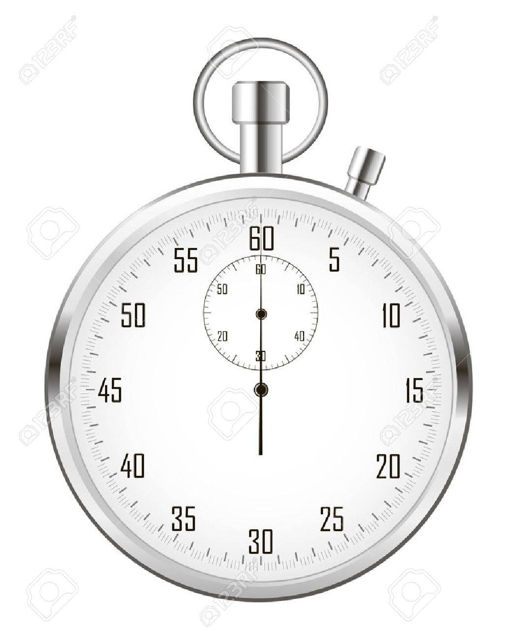 Stopwatch (or chronometer) isolated on white background. - 51233778