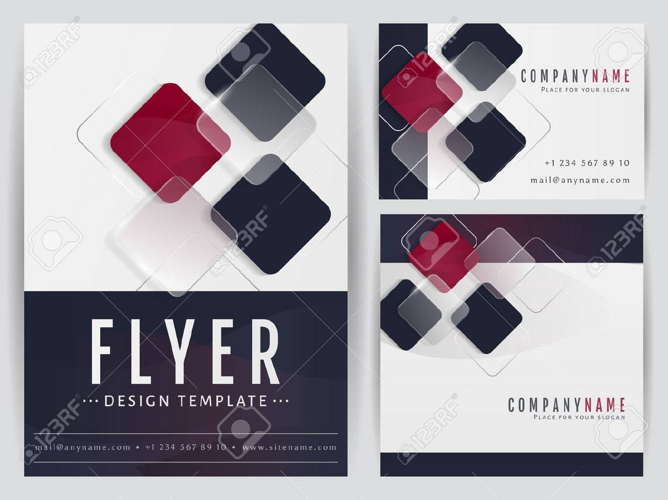 Set Of Visual Corporate Identity Templates. Flyer, Business Card ...