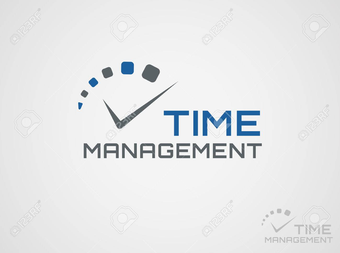 Time management template. Concept icon isolated on white background. Vector symbol. - 53553917