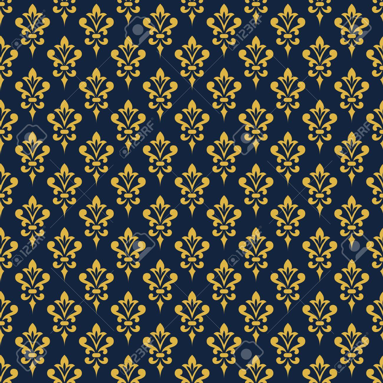 Damask Wallpaper Background In Victorian Style Elegant Vintage