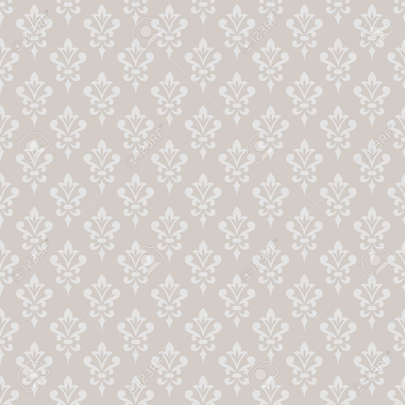 Damask Wallpaper Elegant Background In Victorian Style Vintage Ornament Monochrome Colors