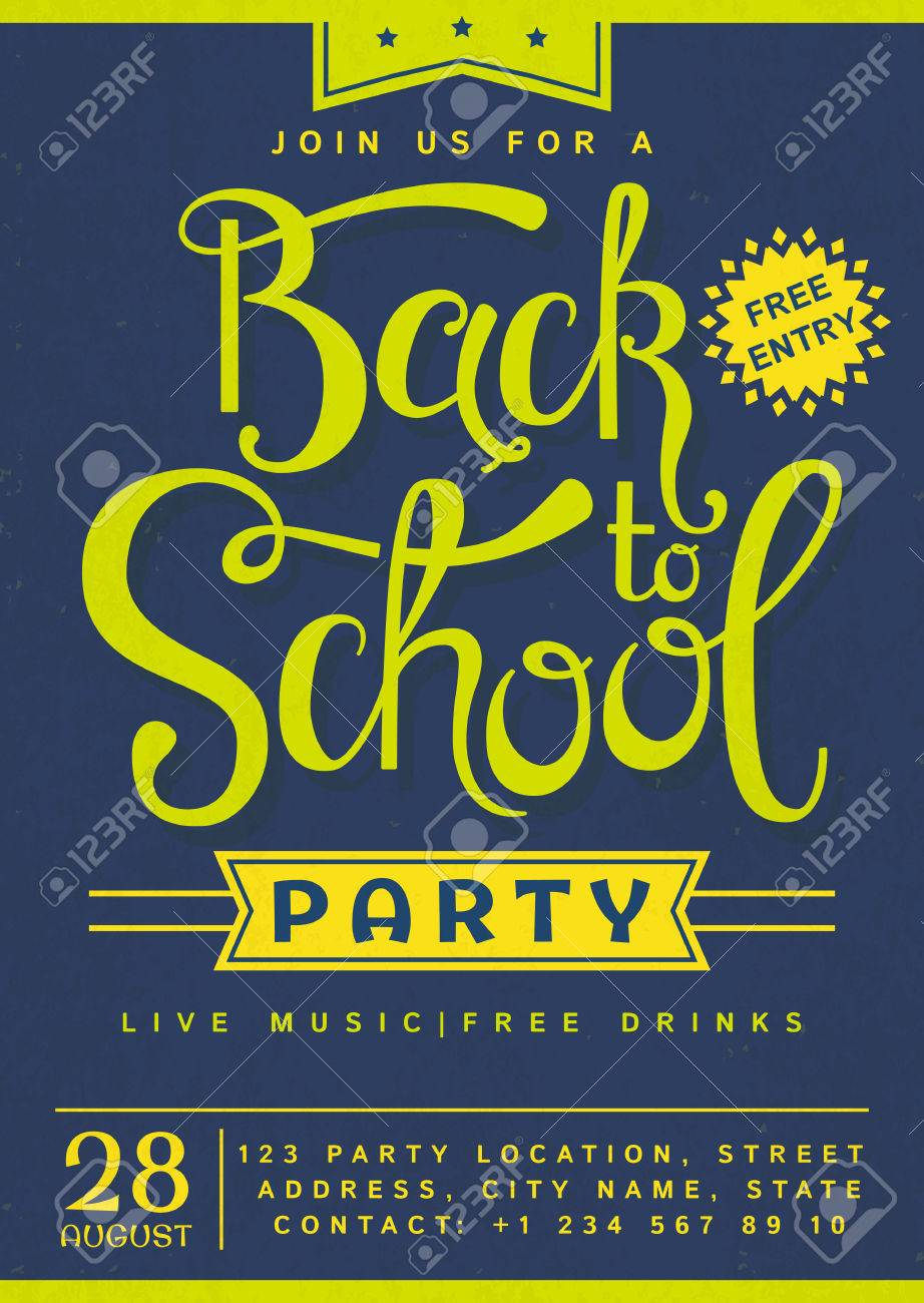 Back to school custom party invite   back to school party, party.