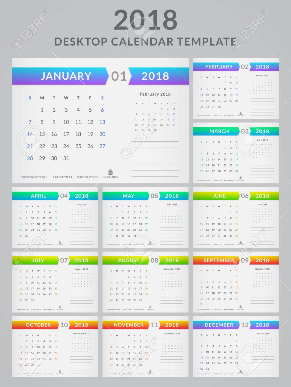 Calendrier 2021 Avec Semaine.Calendrier Pour Le Calendrier Vecteur Modele De 2021 Ensemble De 12 Pages Mobiles Avec Place Pour Les Cartes De Reduction De Semaine Dimanche