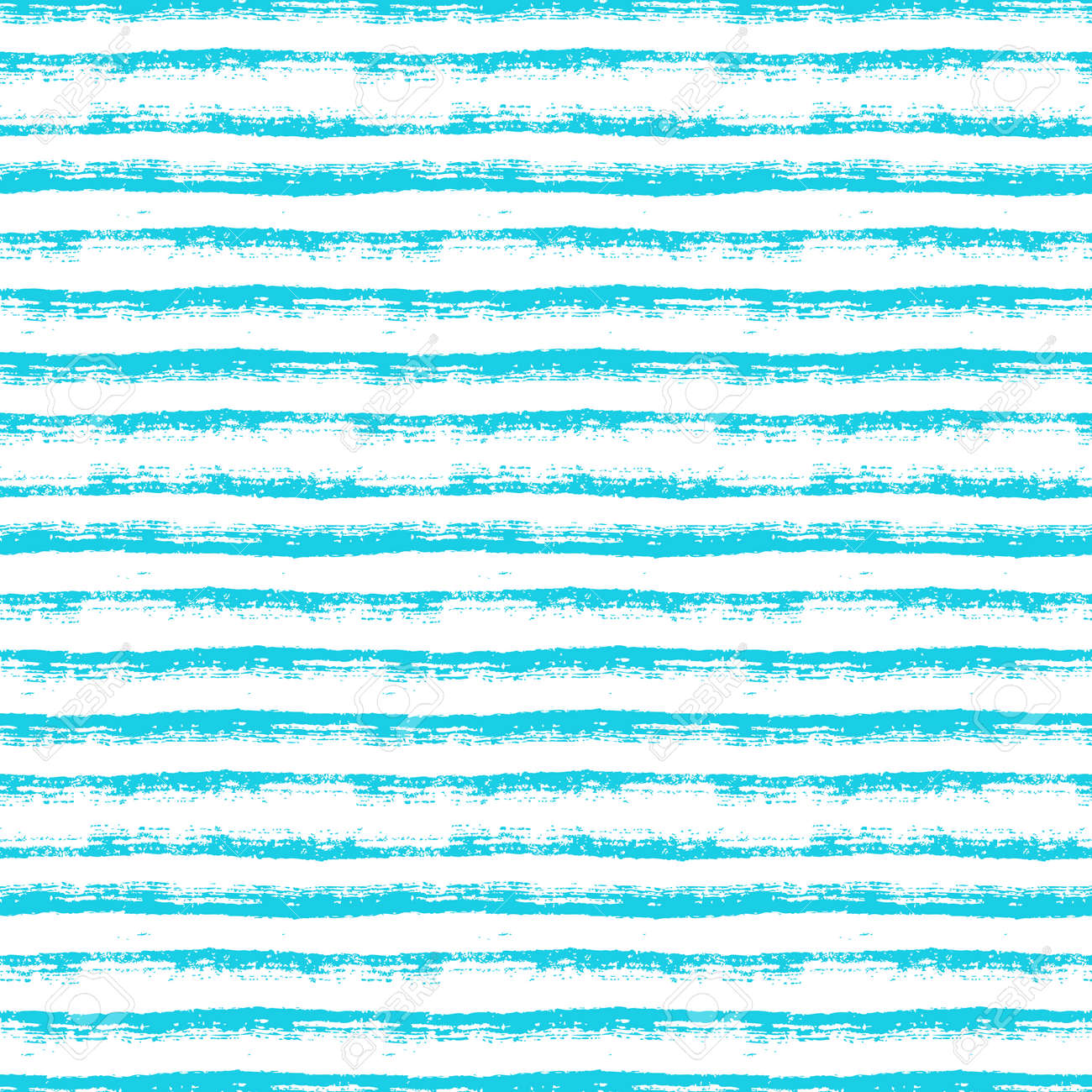Abstract seamless pattern with paint brush lines. Blue and white striped background with hand drawn stripes. Vector texture. - 169243835