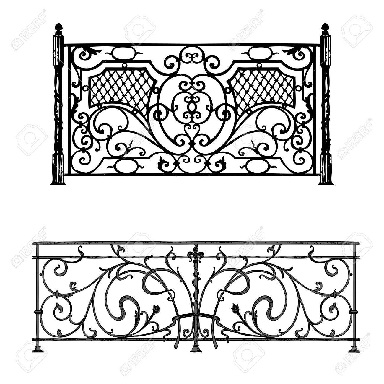 Die Künstlerischen Schmiedeprodukte Gitter Schmiedeeisen Tür, Zaun ...