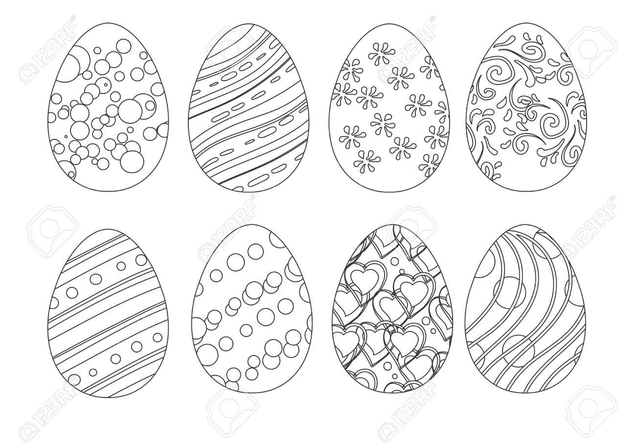 Isolated Set Of Coloring Easter Eggs Royalty Free Cliparts Vectors And Stock Illustration Image 51835031