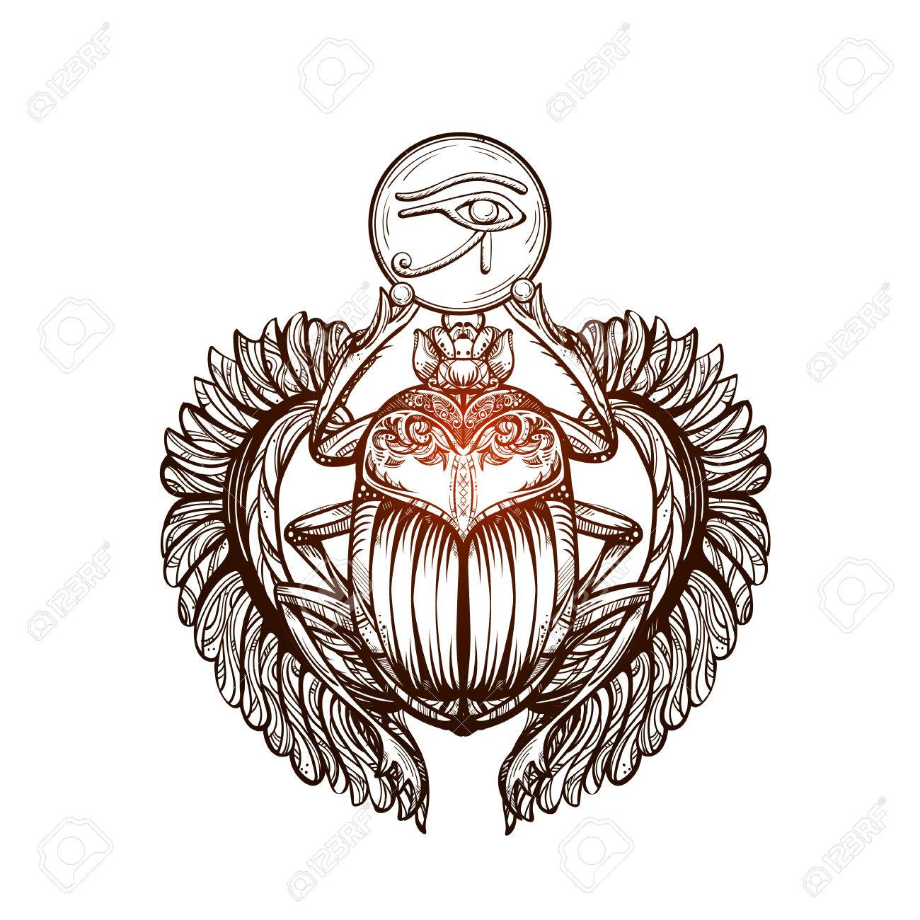 Isolated vector tattoo image black scarab beetleon a white the ancient spiritual symbol of egypt god khepri isolated vector tattoo image black scarab beetleon a white background carabaeus sacer the ancient biocorpaavc Gallery