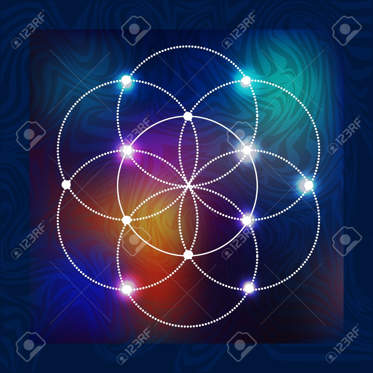 abstract vector background with consecrated symbols of sacred geometry - 56647324