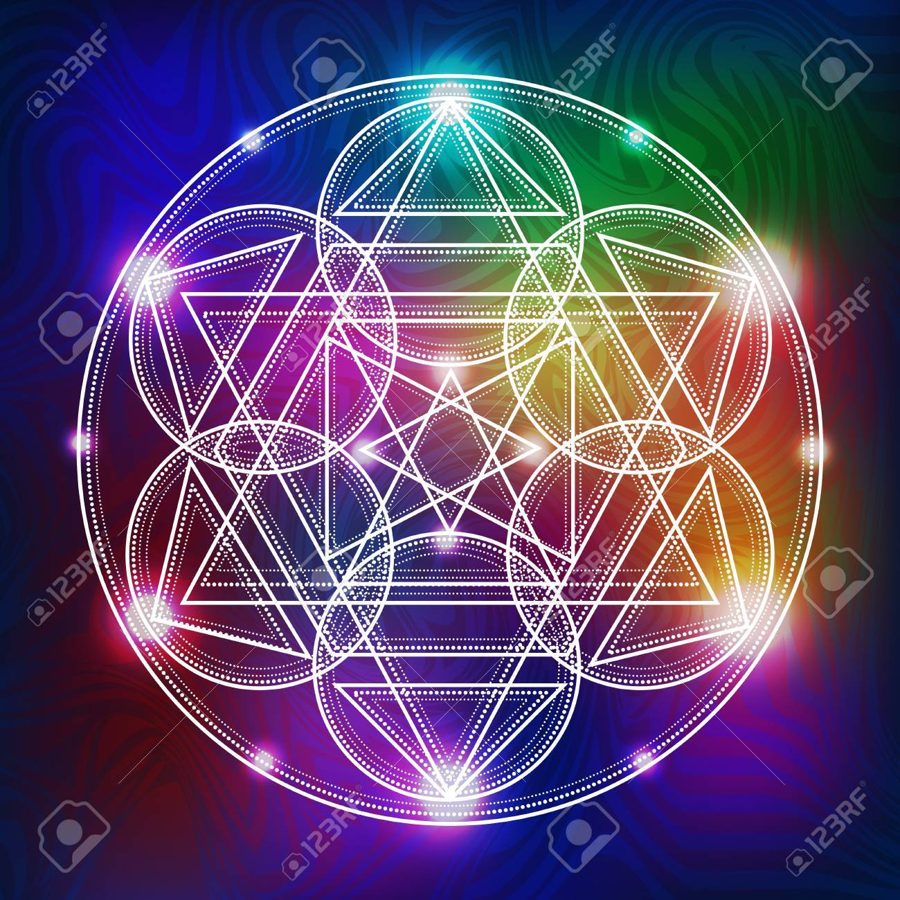 abstract vector background with consecrated symbols of sacred geometry - 62451314