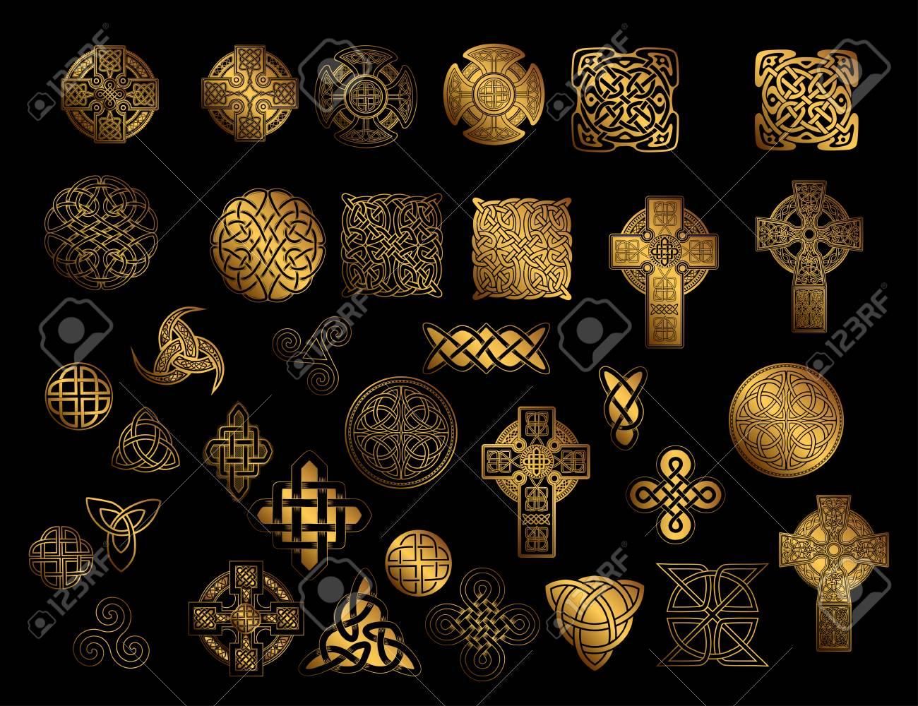 Set Of Ancient Pagan Scandinavian Sacred Symbols And Ornaments